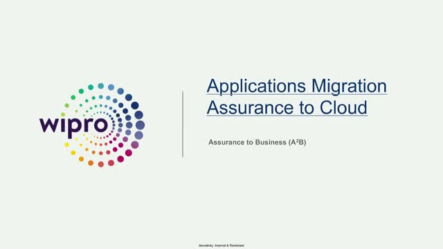 Applications migration Assurance to cloud