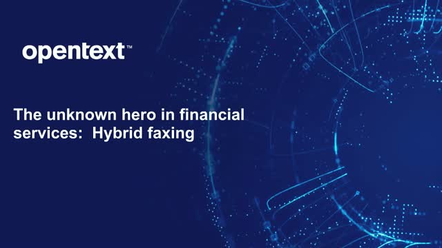 The Unknown Hero In Financial Services: Hybrid Faxing