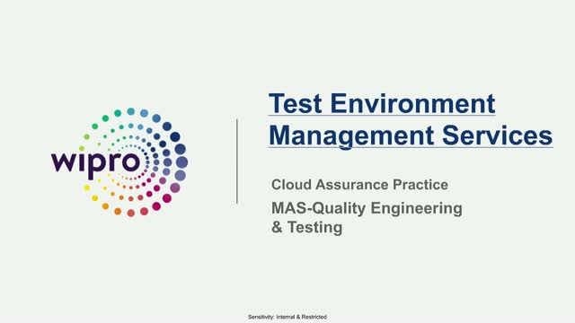 Test Environment Management Service aligned with Cloud
