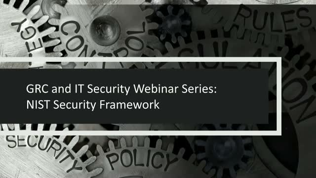 GRC & IT Series: Using a NIST Based Approach to Align Cyber & Compliance