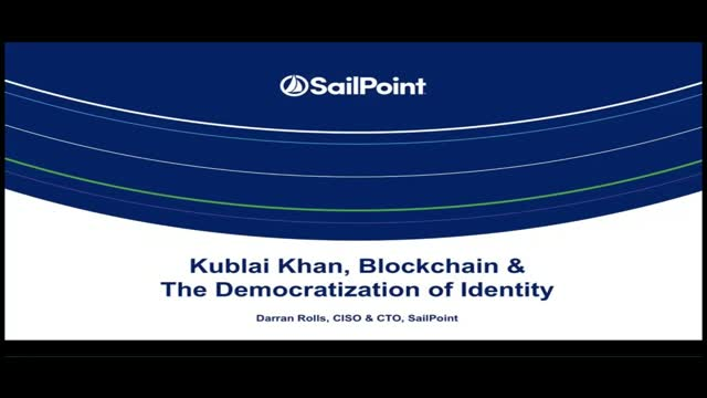 Kublai Khan, Blockchain & The Democratization of Identity