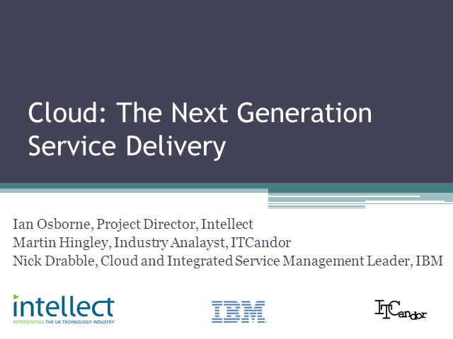 Cloud: The Next Generation Service Delivery