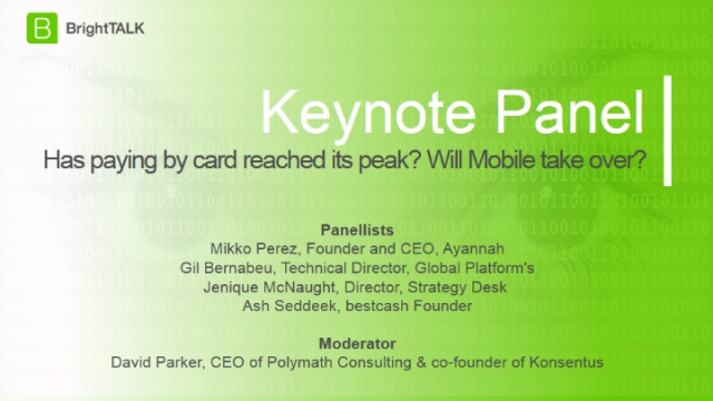 Has paying by card reached its peak?  Will Mobile take over?