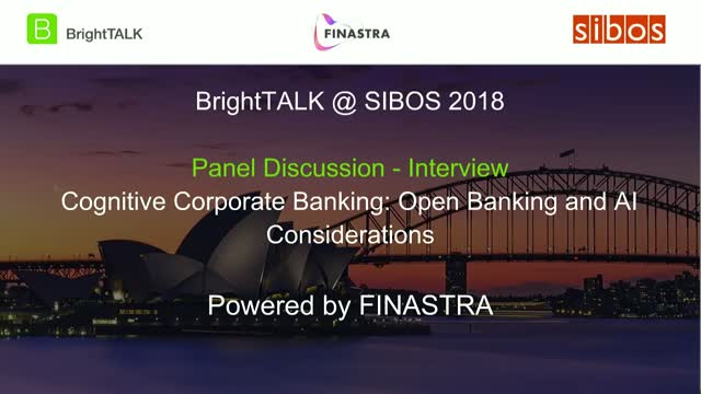 [Panel] Cognitive Corporate Banking: Open Banking and AI Considerations