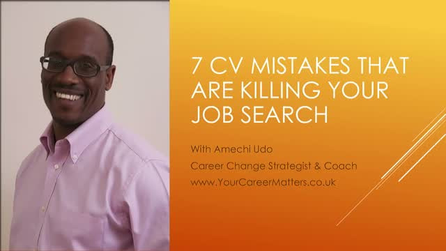 7 CV Mistakes That Are Killing Your Job Search