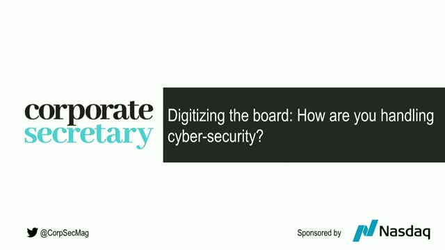 Corporate Secretary Webinar – How are you handling cyber-security?