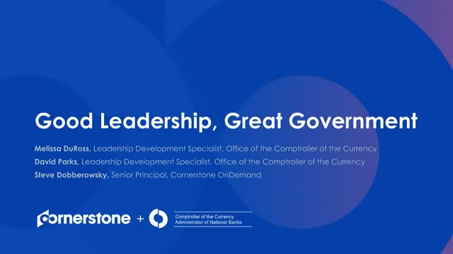 Good Leadership, Great Government