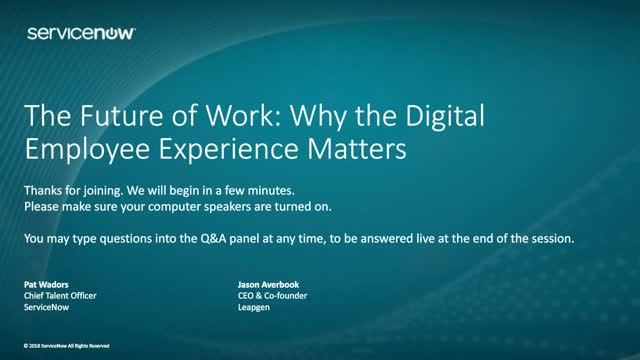 The Future of Work: Why the Digital Employee Experience Matters