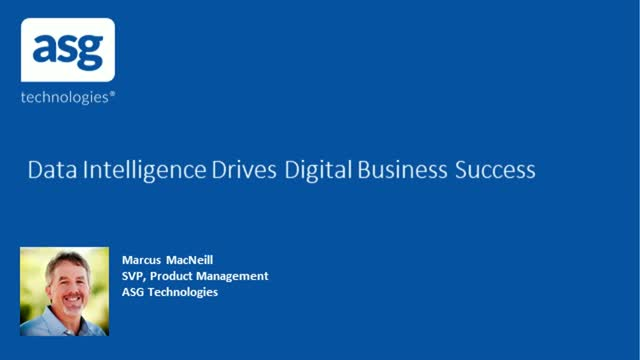 Data Intelligence Drives Digital Business Success