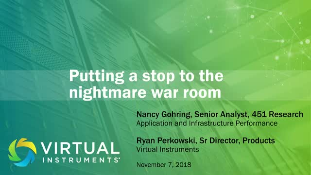 Stop the Nightmare IT War Room