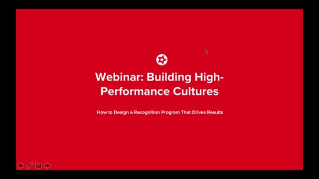 Webinar: Building High-Performance Cultures