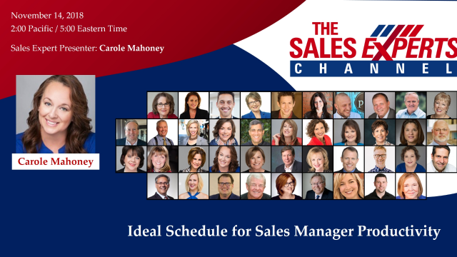 Ideal Schedule for Sales Manager Productivity