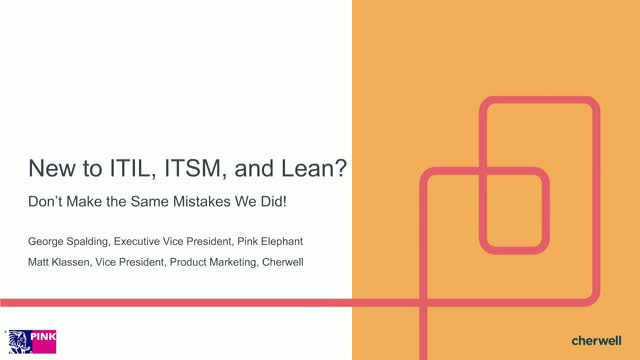 New to ITIL, ITSM, and Lean?  Don't Make the Same Mistakes We Did!
