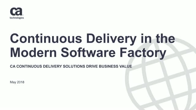 Tech Talks:  A Continuous Delivery Solutions Overview