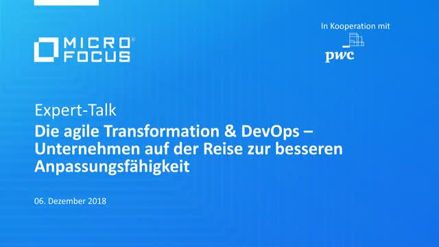 Expert Talk am 6. Dezember: Die agile Transformation & DevOps