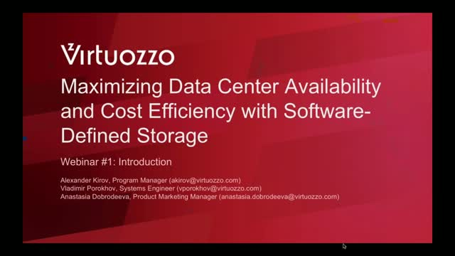 Maximize Availability and Cost Efficiency with Software-Defined Storage