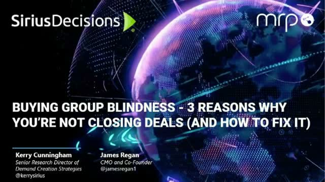 Buying Group Blindness: 3 Reasons Why You're Not Closing Deals & (How To Fix It)