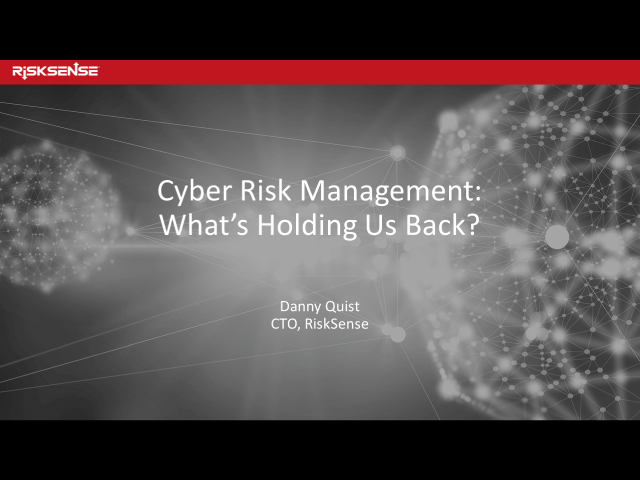 Cyber Risk Management: What's Holding Us Back?