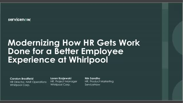 Modernizing How HR Work Gets Done for a Better Employee Experience at Whirlpool
