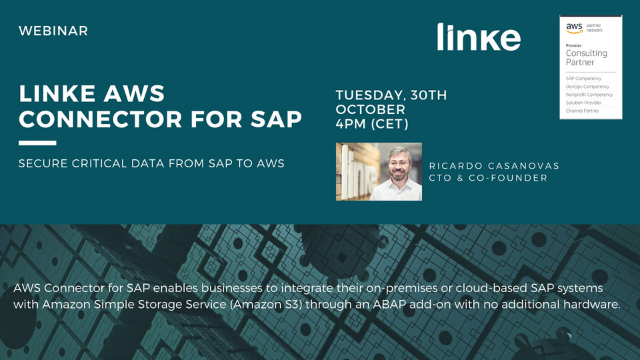 SAP system integration with Amazon S3  Discover Linke AWS Connector