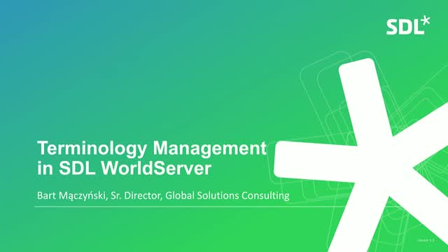 SDL WorldServer Q1 Quarterly Showcase 2019