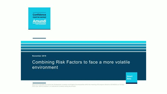 Combining Risk Factors to face a more volatile environment