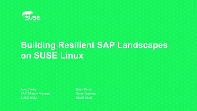 Building Resilient SAP Landscapes on SUSE Linux