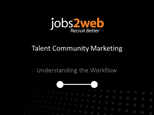 Introduction to Talent Community Marketing