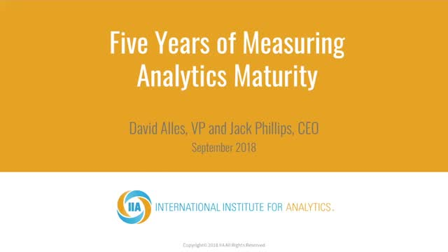 5 Years of Assessing Analytics Maturity