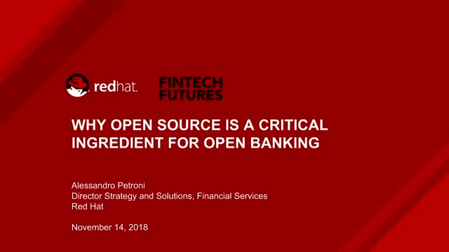 Why open source is a critical ingredient for open banking