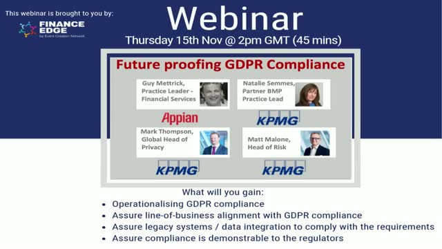 Future Proofing GDPR Compliance