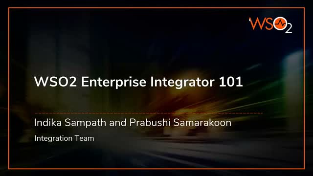 WSO2 Enterprise Integrator 101