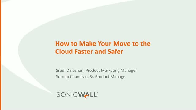 How to make your move to the cloud faster and safer