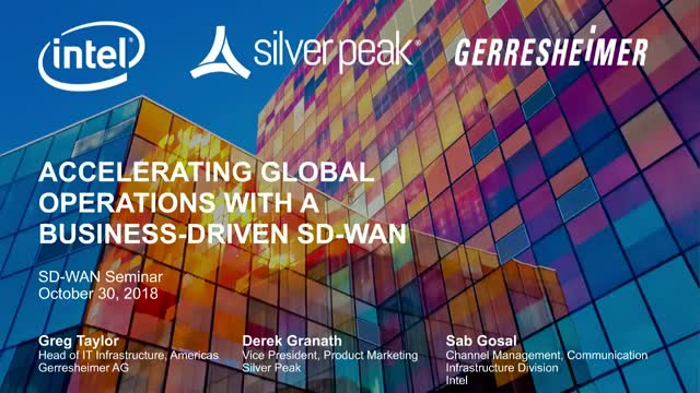 Accelerating Global Operations with a Business-driven SD-WAN