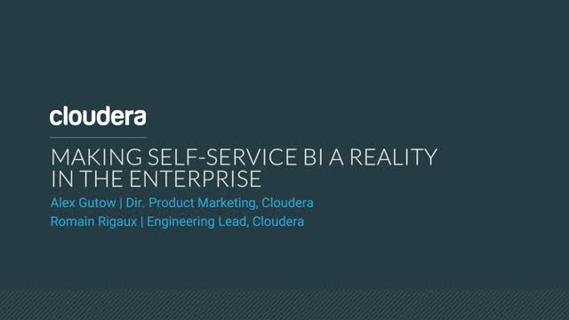 Making Self-Service BI a Reality in the Enterprise