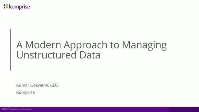 A Modern Approach To Managing Unstructured Data