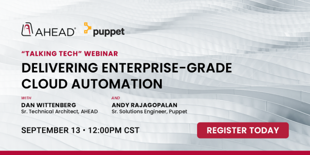 Delivering Enterprise-Grade Cloud Automation with Puppet and AHEAD