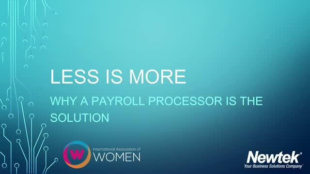 Less is More: Why Outsourcing Your Payroll is the Solution