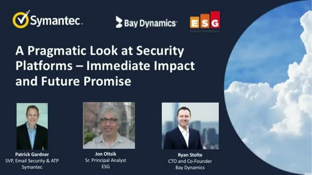 A Pragmatic Look at Security Platforms - Immediate Impact and Future Promise