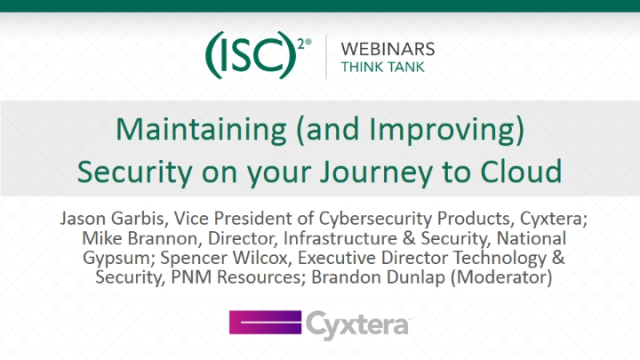 Maintaining (and Improving) Security on your Journey to Cloud