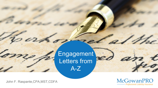 Engagement Letters From A-Z