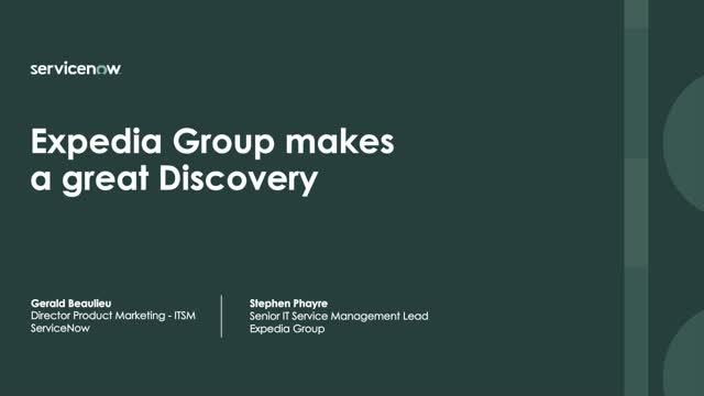 Expedia Group makes a great Discovery