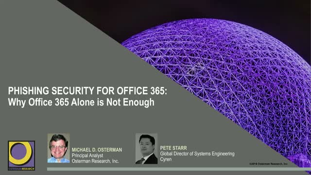 Phishing Security for Enterprises using Office 365
