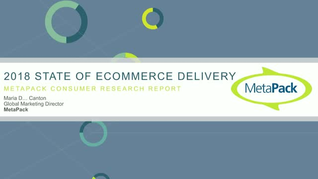 State of eCommerce Delivery - 2018 Consumer Research Results