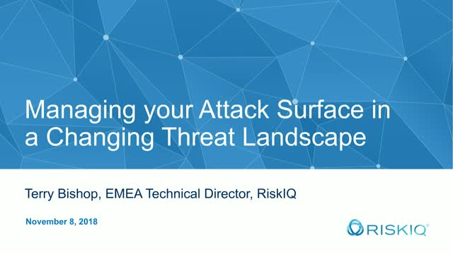 Managing Risks in your Attack Surface