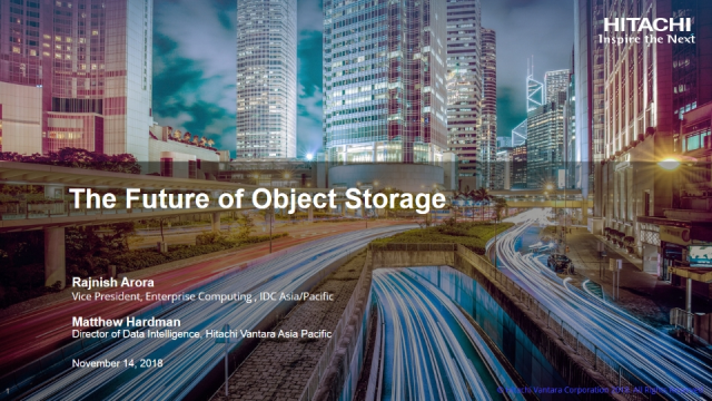IDC Survey – The Future of Object Storage