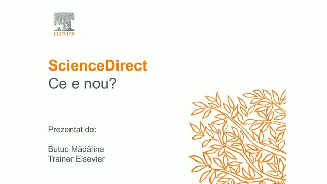 ScienceDirect: Ce e nou?