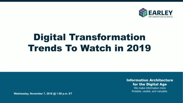 Digital Transformation Trends to Watch in 2019