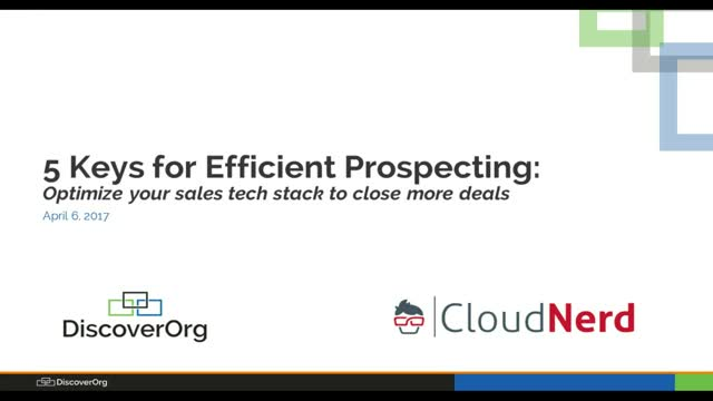 5 Keys for Efficient Prospecting