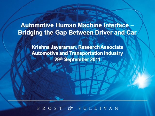 Automotive Human Machine Interface - Bridging the Gap Between Driver and Car